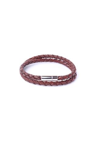 Bracelet Tressé Double Chestnut